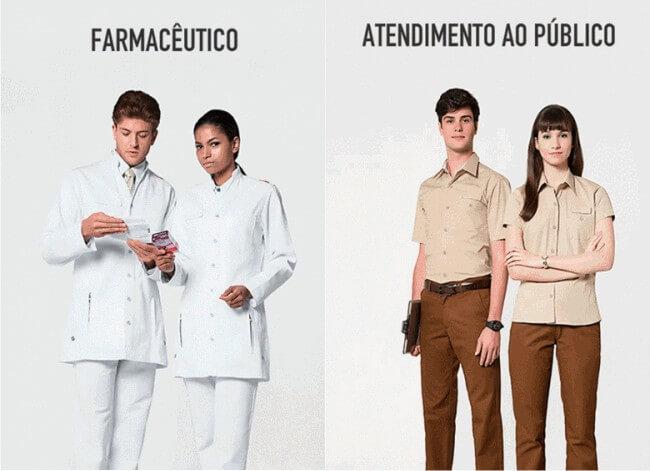 modelo de uniforme